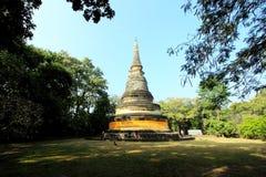 Pagoda in tempio di Umong Immagini Stock