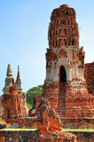 Pagoda in temple in Ayutthaya Royalty Free Stock Photos