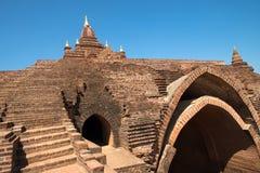 Pagoda and temple in Bagan - Pyathada Royalty Free Stock Photography