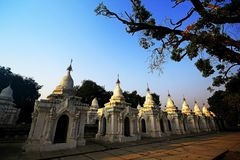 Kuthodaw pagoda In Myanmar Travel in Mandalay stock photos