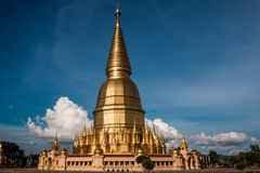 Pagoda in temple Stock Image