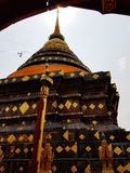 Pagoda. Temple gold sky Stock Photography
