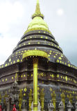 Pagoda of temple in lampang, Thailand. Stock Photography