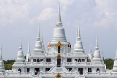 Pagoda. Temple with large white pagoda Royalty Free Stock Images