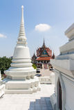 Pagoda. Temple with large white pagoda Stock Photo