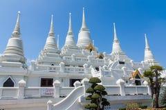 Pagoda. Temple with large white pagoda Stock Photos