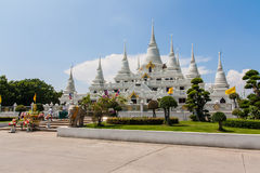 Pagoda. Temple with large white pagoda Royalty Free Stock Image