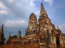 Pagoda. Temple or pagoda old. Exotics are very abundant in the city of Ayutthaya Royalty Free Stock Photography