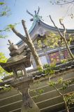 Pagoda and temple in Osaka. Japan. In every single corner of Japan you can find these beautiful Buddhist pagodas and temples royalty free stock image