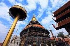 Pagoda temple Phrathat Lampang Luang in Lampang, Thailand Royalty Free Stock Photo