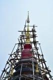 Pagoda temple restoration Stock Photo
