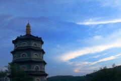 Pagoda. The Temple of the seven-story pagoda Qingdao Stock Image