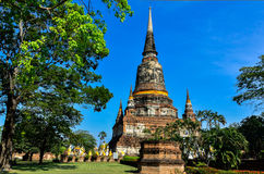 Pagoda in temple Thailand. Royalty Free Stock Photography