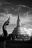 Pagoda. Of the temple in Thailand Royalty Free Stock Image