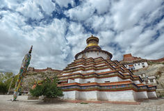 Pagoda temple in Tibet Stock Images