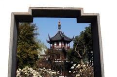 Pagoda temple in Wen garden Royalty Free Stock Photo