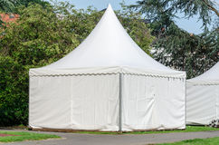 Pagoda tent. Quickly set up for various occasions as a sales tent, etc Royalty Free Stock Image