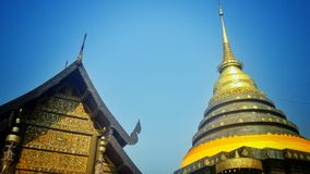 Pagoda thaïe de type Photo stock