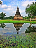 Pagoda in Thai temple. Attractions on the history Architecture and ancient temples in Thailand ,Sukhothi city Stock Images
