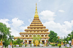 pagoda at Thai temple style in Khon Kaen Thailand Stock Photos