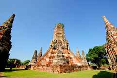 Pagoda in Thailand. Pagoda with Thai style in morning Royalty Free Stock Photography
