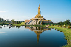 Pagoda of Thailand. The beautiful stupa built by the devout Buddhist Thailand is located.Respected the Buddhist faith And sights Thailand's public And foreigners Stock Photography
