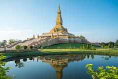 Pagoda of Thailand. The beautiful stupa built by the devout Buddhist Thailand is located.Respected the Buddhist faith And sights Thailand's public And foreigners royalty free stock photo