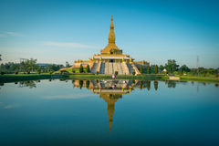 Pagoda of Thailand. Lotus Pagoda in Thailand built according to the Buddhist faith.Lotus Pagoda, a beautiful building. with nature at Roi Et Province stock images