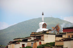 pagoda tibet Arkivbild