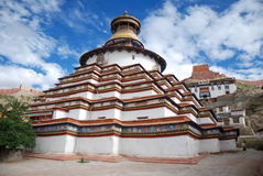 The pagoda. The Tibet Jiangzi temple in the built in 1418 Stock Photo