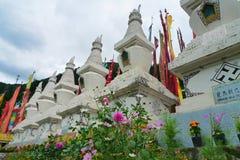 Pagoda tibetana del templo en Huanglong Fotos de archivo