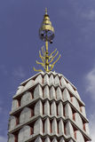 Pagoda. Tiered Pagoda with gold spear late Stock Photo