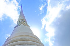 Pagoda top with blue sky Royalty Free Stock Images