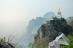Pagoda on the  top in Chiangmai. Pagoda on top of temple on the mountain Stock Images