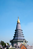Pagoda on the top of mountain Royalty Free Stock Images