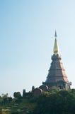 Pagoda on the top of mountain Stock Photos