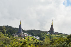 Pagoda on the top of mountain Stock Image