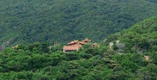 A pagoda on the top of mountain Royalty Free Stock Photos