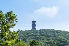 The pagoda at the top of the mountain Royalty Free Stock Images