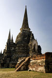 Pagoda, tower, temple, ancient thailand, ayuttaya Stock Photos