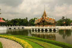Pagoda ,  tower of Thailand. Pagoda in Thailand On the day the sky is clear Royalty Free Stock Photo