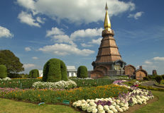 Pagoda ,  tower of Thailand. Pagoda in Thailand On the day the sky is clear Stock Photography