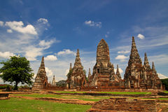Pagoda ,  tower of Thailand. Pagoda in Thailand On the day the sky is clear Stock Image
