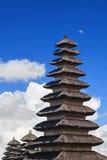 Pagoda traditionnelle Meru de balinese dans le temple de Besakih photographie stock libre de droits