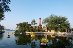 Pagoda of Tran Quoc temple in Hanoi, Vietnam Stock Photos