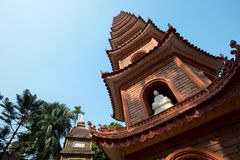 Pagoda of Tran Quoc temple in Hanoi, Vietnam Royalty Free Stock Photos