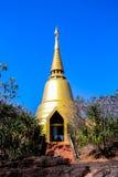 Pagoda. Travel style gold pagoda  Buddhism thailand Royalty Free Stock Photography