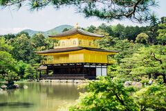 Pagoda Beside Tree's and River Royalty Free Stock Images