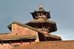 Pagoda type roof in Patan, Nepal Royalty Free Stock Photography