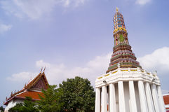 A pagoda and an ubosot Stock Photography